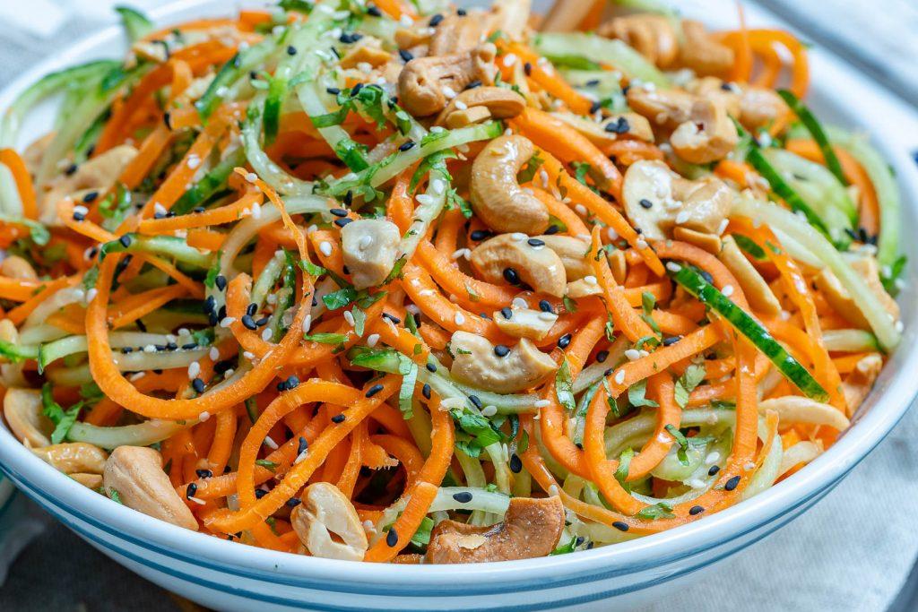Clean Thai Veggie Noodle Salad Recipes