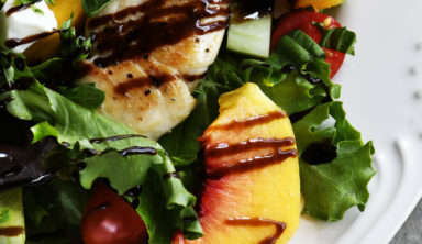 Delicious Recipe of Grilled Chicken and Peach Salad
