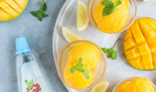 Vegan Mango Sorbet RECIPE ( Ready in 5 Min!)