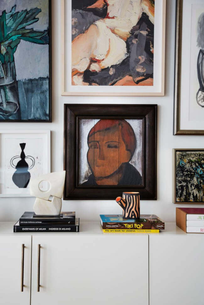 Bold Statement Artworks Instead of a Wall, a Gallery Wall. 75