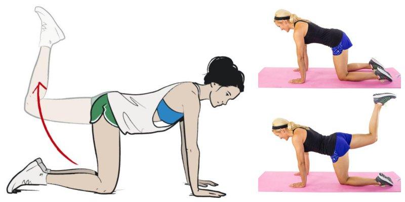Brazilian Butt Lift Exercises to Tighten Your Butt Donkey Kick