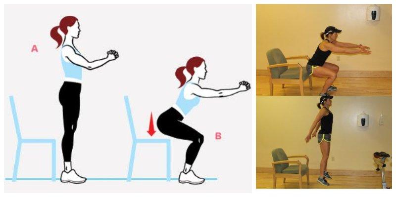 Brazilian Butt Lift Exercises to Tighten Your Butt Chair Squat