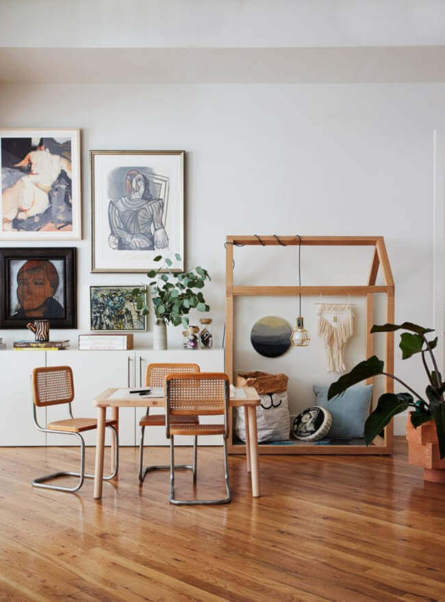 Bold Statement Artworks Instead of a Wall, a Gallery Wall. 66