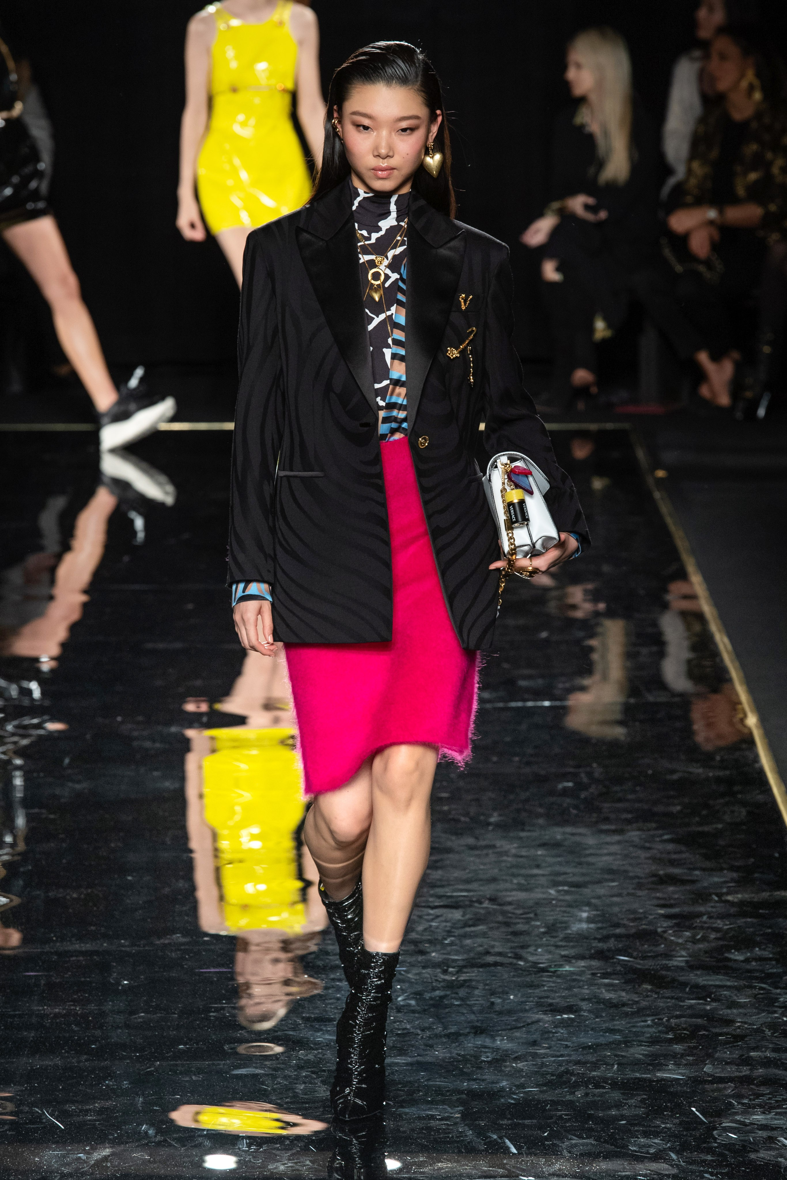 Versace Pre-Fall 2019 show at the Stock Exchange in Downtown Manhattan. 85