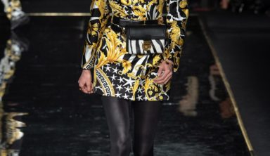 Versace Pre-Fall 2019 show at the Stock Exchange in Downtown Manhattan.