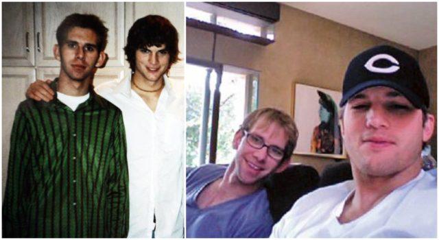 Ashton Kutcher with brother twins