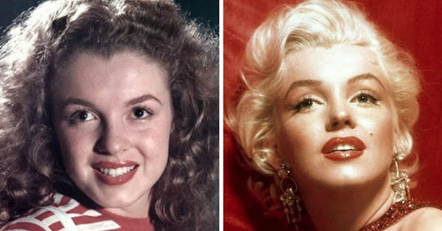 Marilyn Monroe with natural hair color