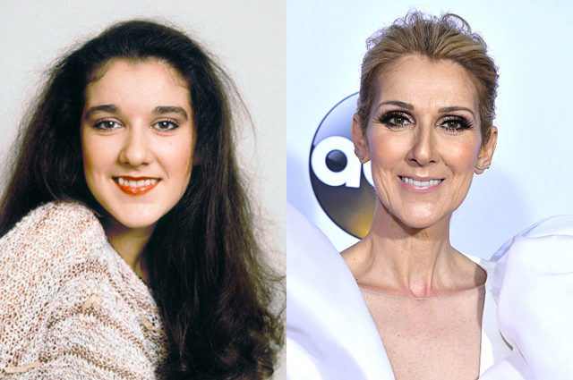 Celine Dion with natural hair color