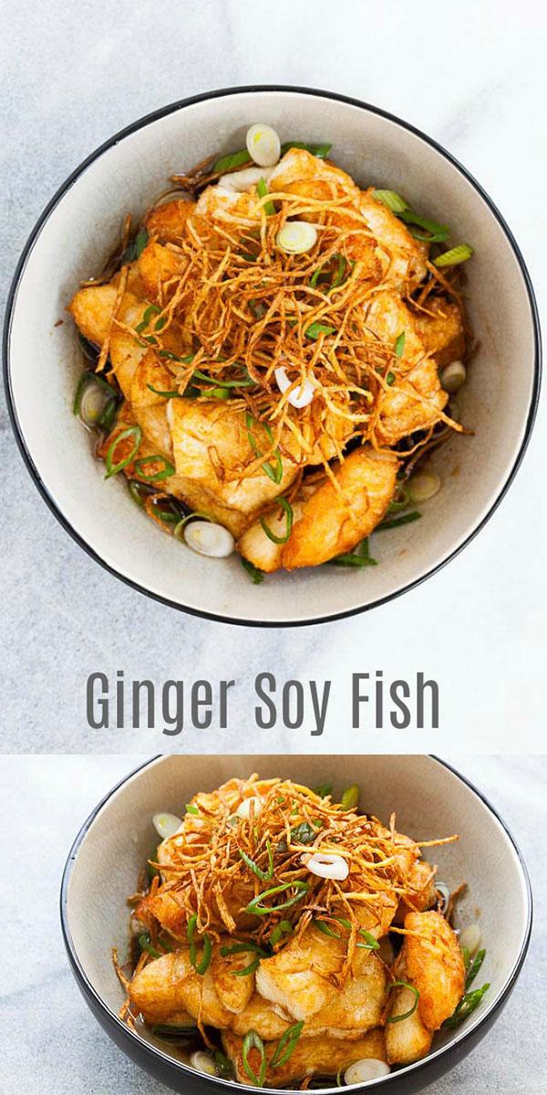 Ginger Soy Fish.