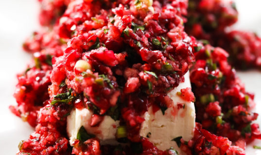 Cranberry Salsa Cream and Cheese Appetizer Recipe