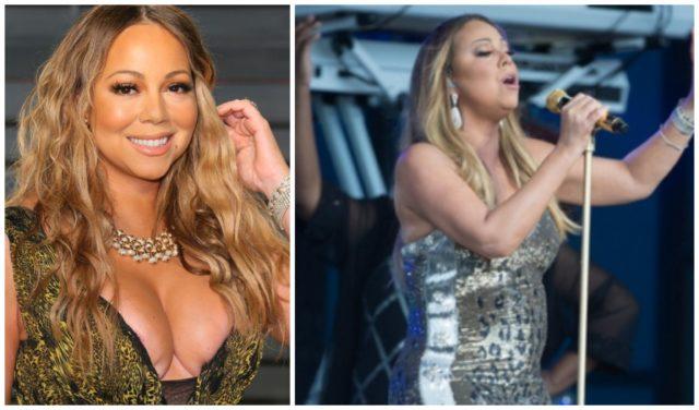 Mariah Carey in close dress