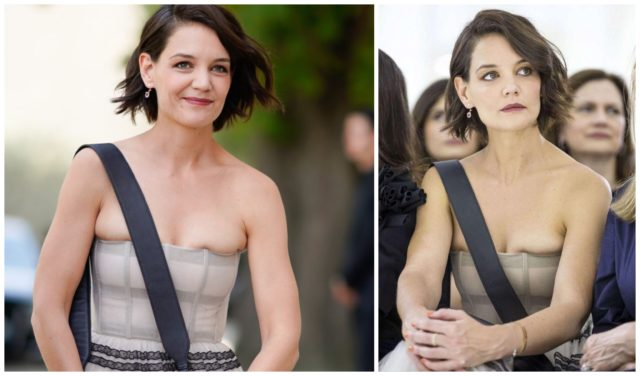 Katie Holmes in close dress