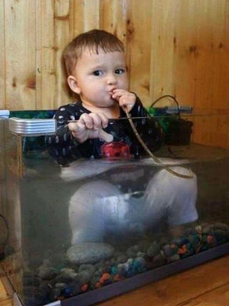The boy in the aquarium