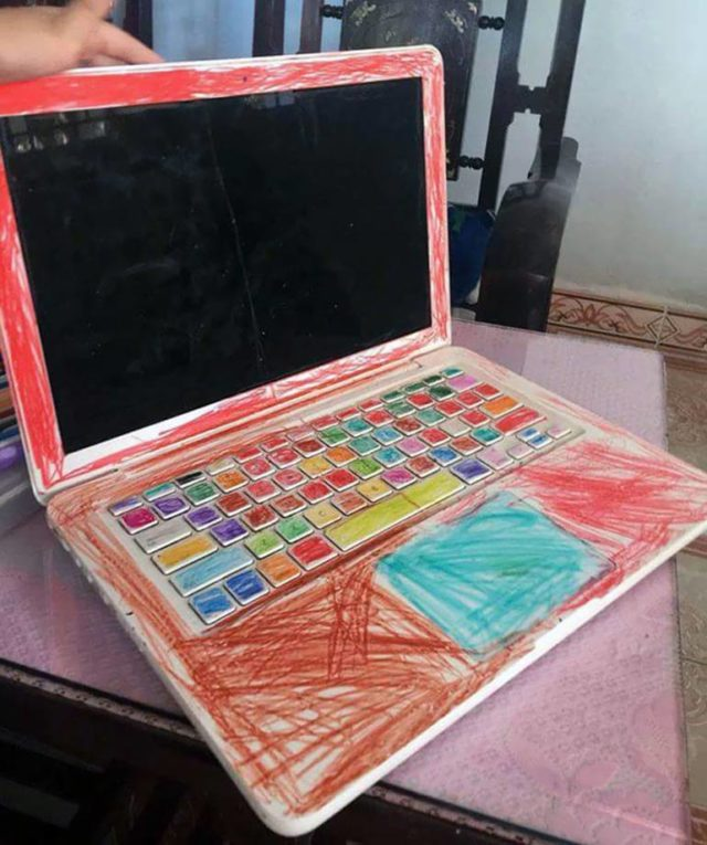 Painted laptop