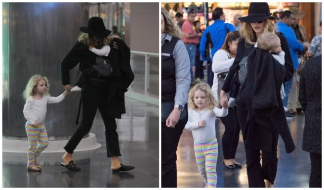 Blake Lively with kids at the airport