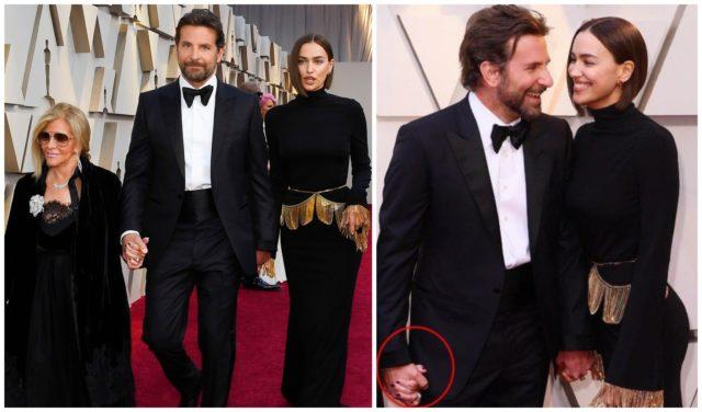 Bradley Cooper goes hand in hand with mom and Irina Shayk