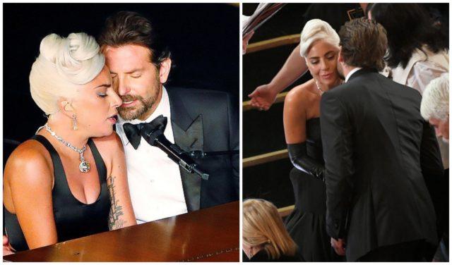 Lady Gaga Hugs With Bradley Cooper