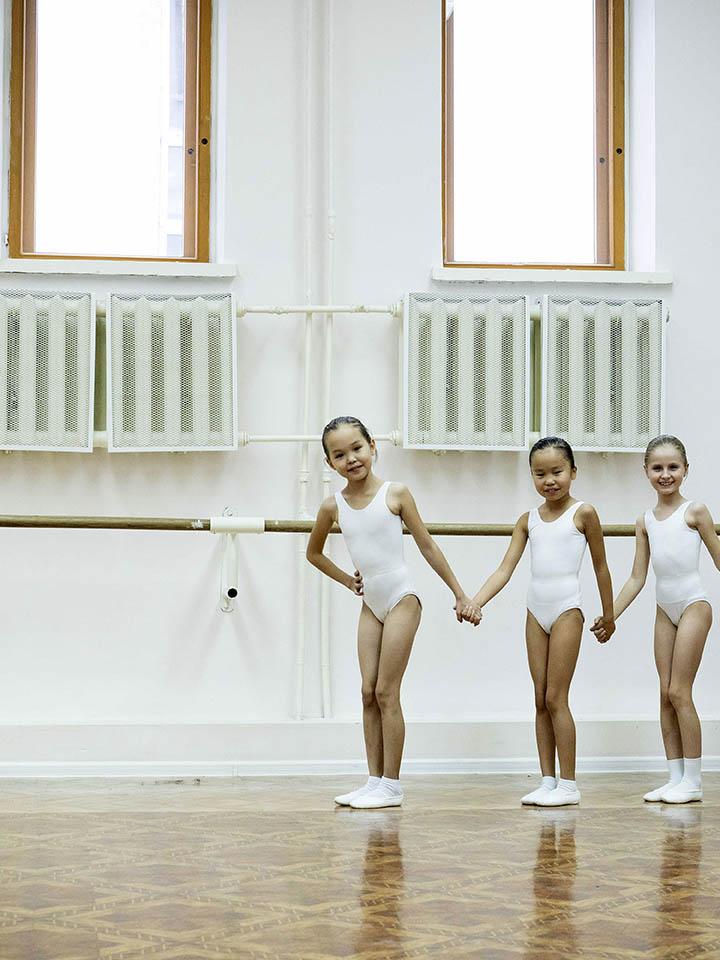 Karina Chikitova - first from the left