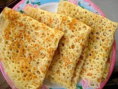 Fishnet pancakes