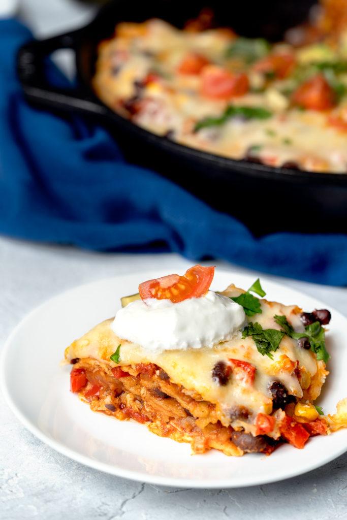 mexican enchilada casserole skillet