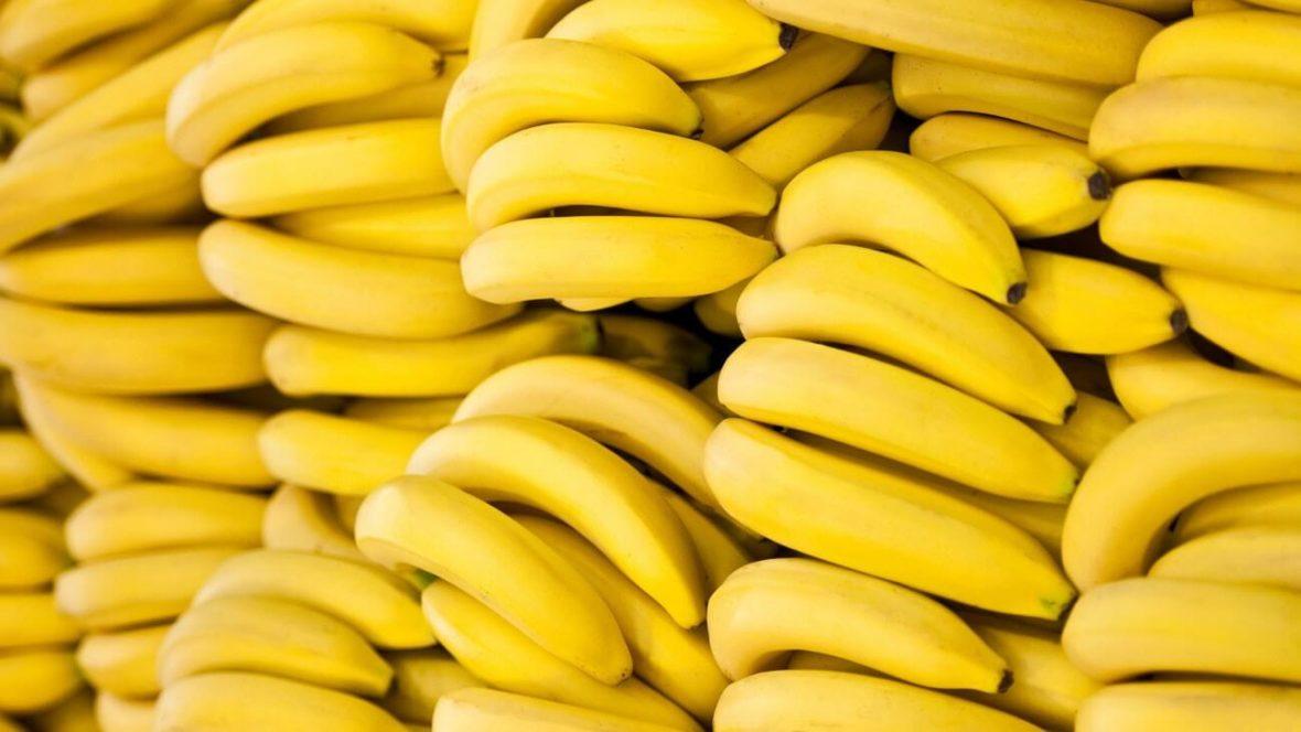 Bananas in a row