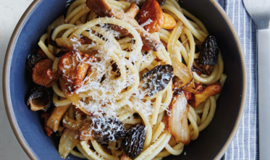 Pasta With Pancetta & Caramelised Onions Recipe