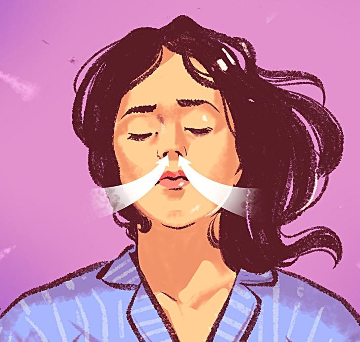 Figure girl breathes