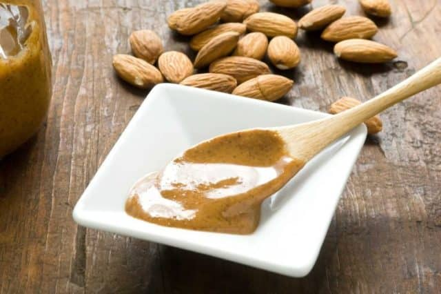 nut butter in a spoon