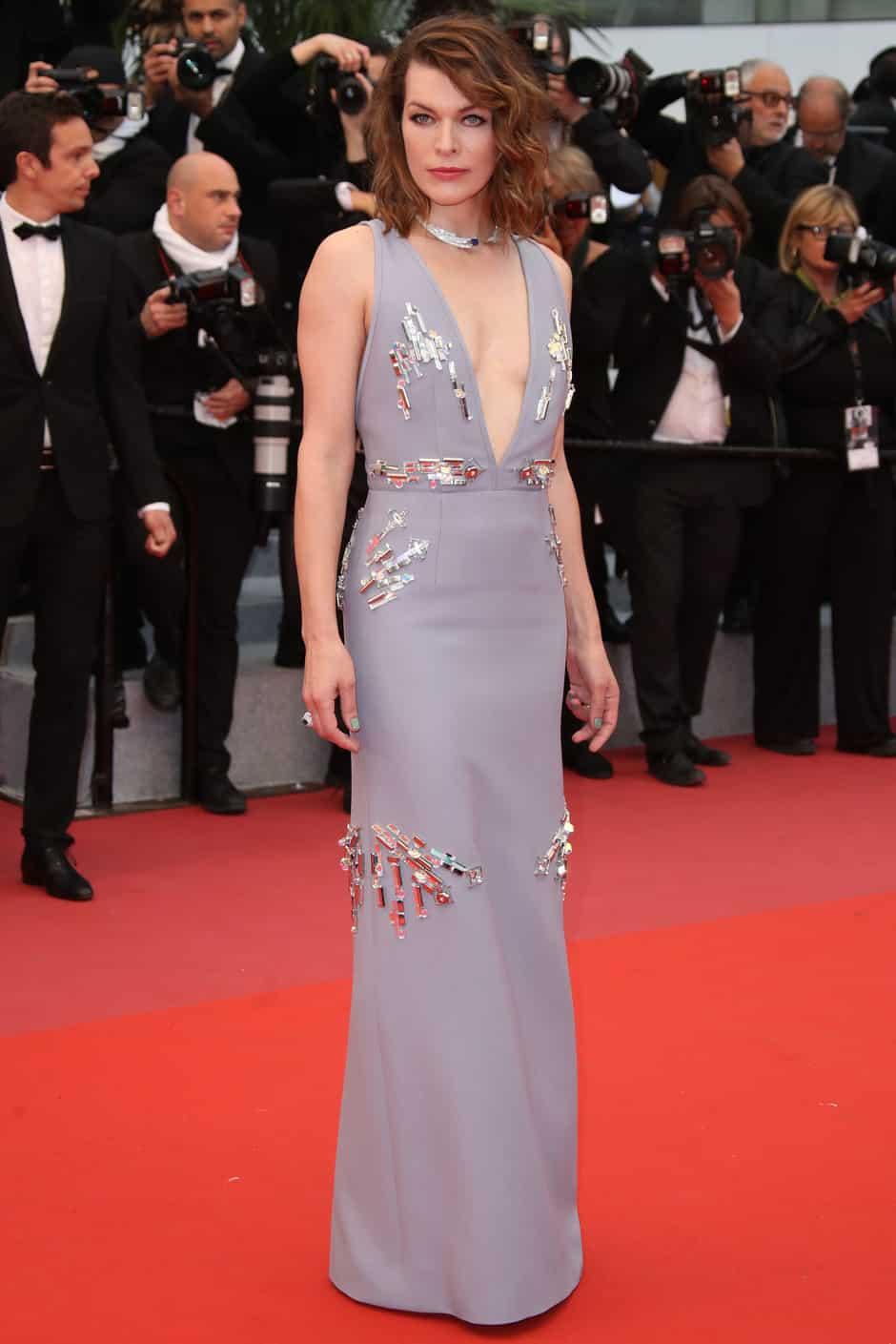 Mila Jovovich red carpet
