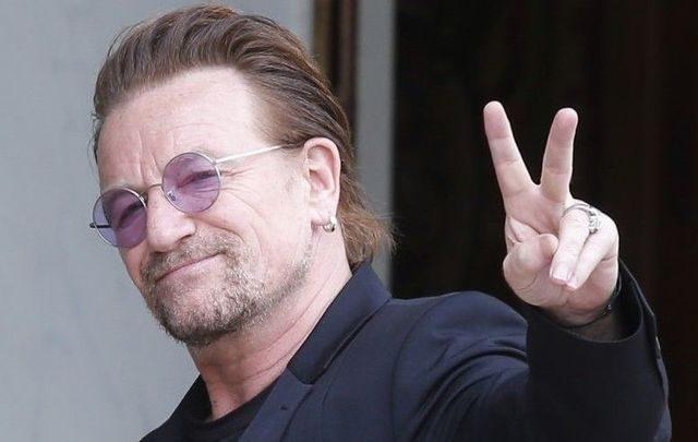 lead singer of band U2 Bono