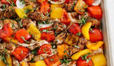 Perfect Sheet Pan Honey Balsamic Chicken and Veggies Recipe