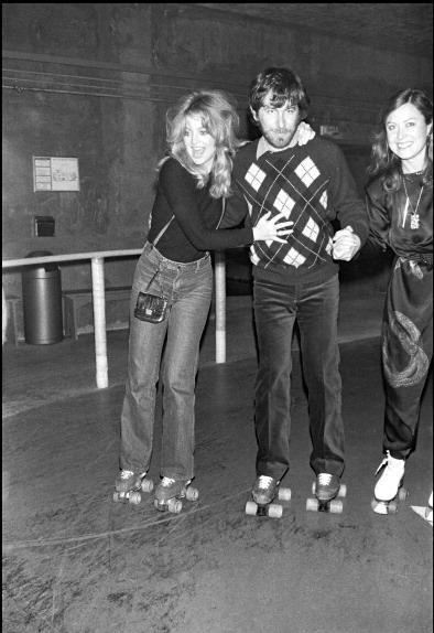 Goldie Hawn and Steven Spielberg