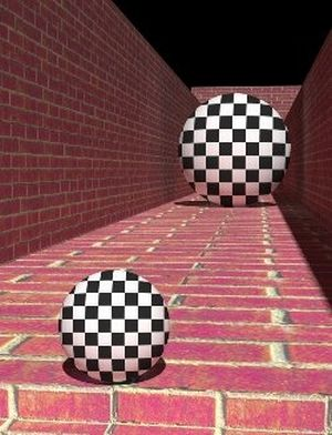 optical illusion with balls