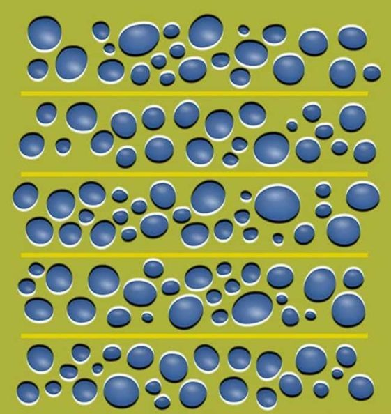 optical illusion with bubbles