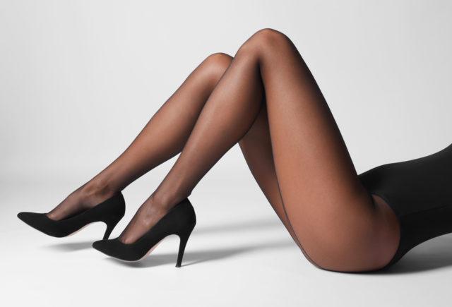 girl in nylon pantyhose