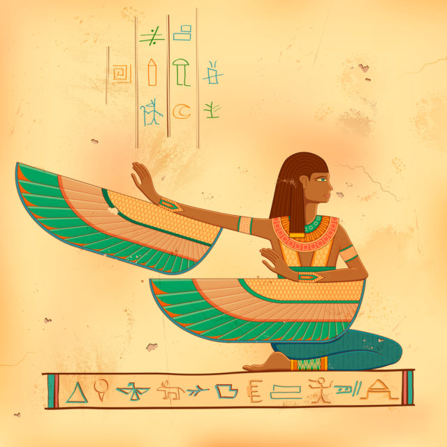 drawing of the egyptian goddess