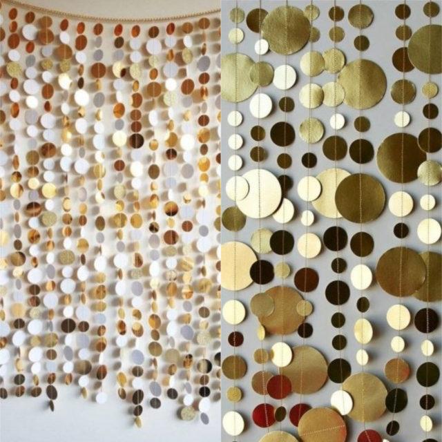 gold foil garland