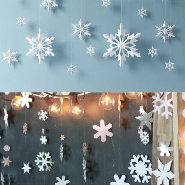 snowflake garlands
