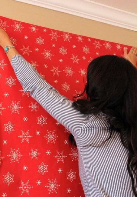 girl with wrapping paper