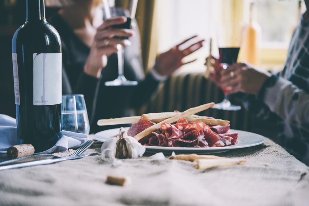 couple drinks wine