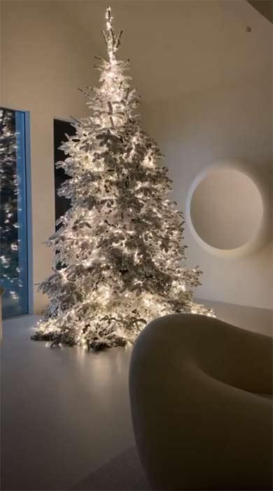 tree in the house of kim kardashian