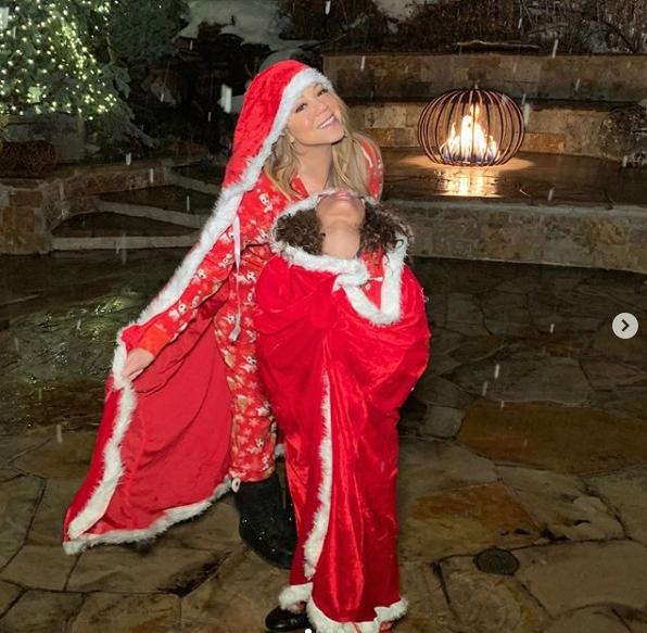 Mariah Carey with daughter