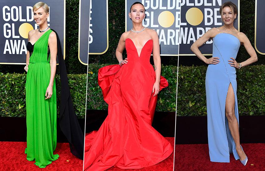 Charlize Theron Scarlett Johansson Renee Zellweger Golden Globe - 2020