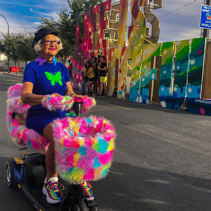 Baddie Winkle 92 years is no reason to turn into an old woman!