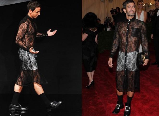 male celebrities in dresses