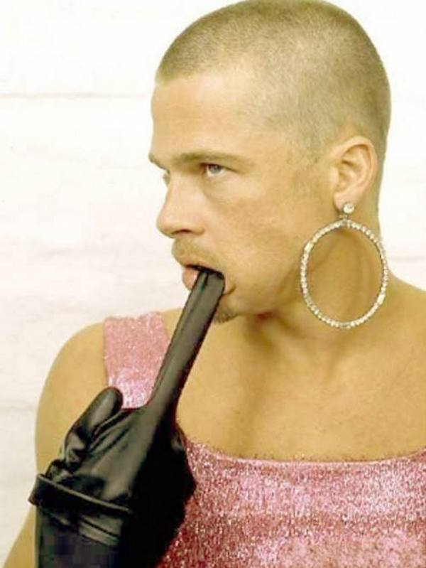 Brad Pitt and other male celebrities in dresses: what was it?