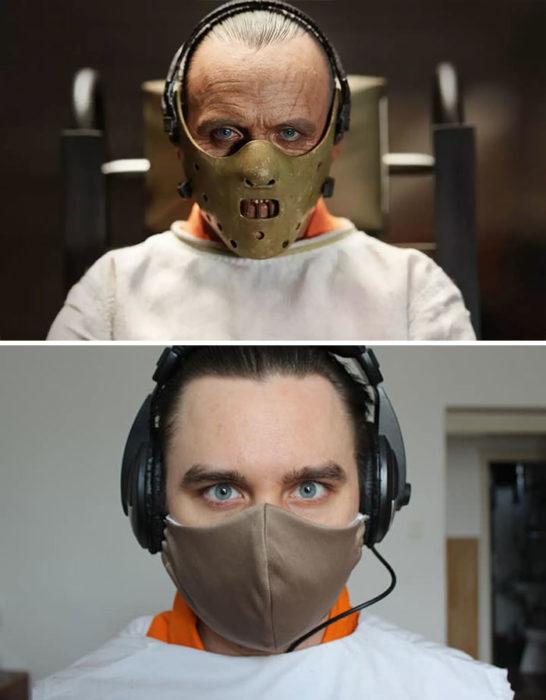 Fascinating Couple recreates scenes from films during quarantine. Real Fun! 44