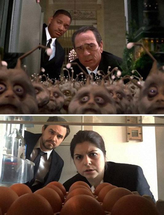 Fascinating Couple recreates scenes from films during quarantine. Real Fun! 47