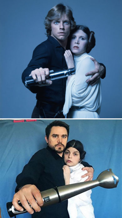 Fascinating Couple recreates scenes from films during quarantine. Real Fun! 87