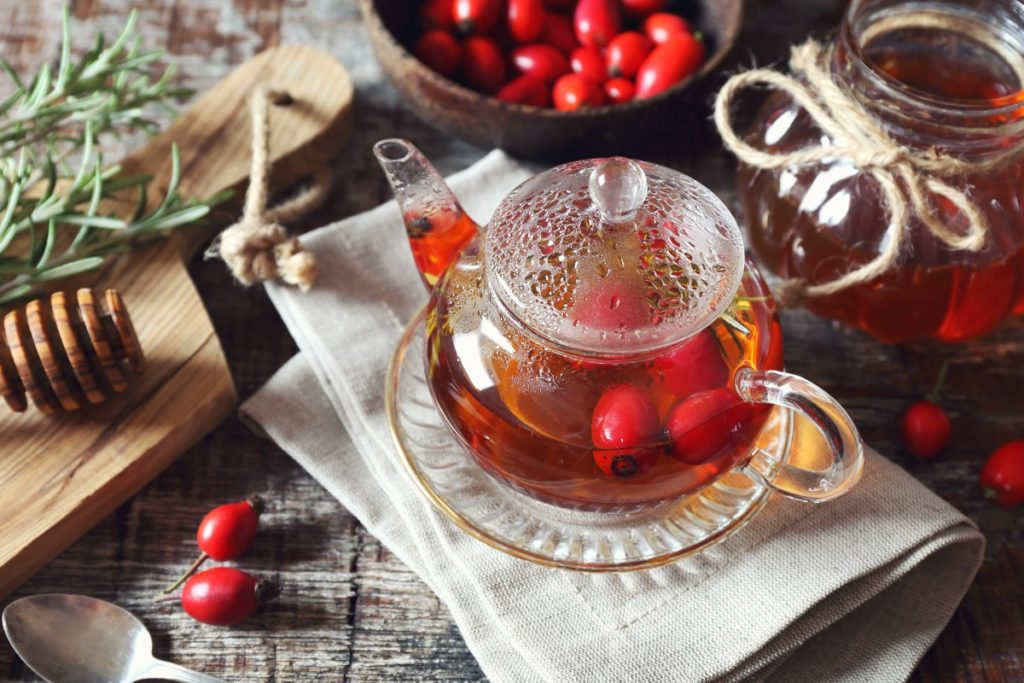 Drinks To Boost Immunity recipe for rosehip and hibiscus tea
